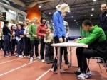Eaton, Theisen-Eaton ja Behrenbruch jagavad autogramme!